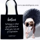 Tote bag coton noir danseuse - Accessoire Ballet - Un Soir à l'Opéra