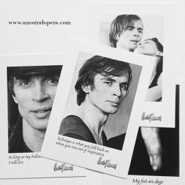 Inspiring Dance postcards - Rudolf Nureyev