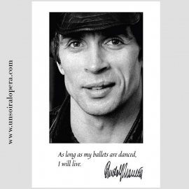 Dance quote postcard - Portrait of Rudolf Nureyev