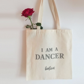 DANCE QUOTE TOTE BAG - I AM A DANCER