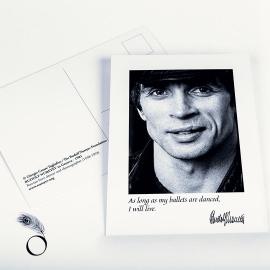 Postcard - Portrait of Rudolf Nureyev by Jack Mitchell - Un soir a l'opéra