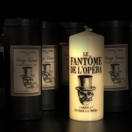 THE PHANTOM OF THE OPERA - TATTOOED PILLAR CANDLE