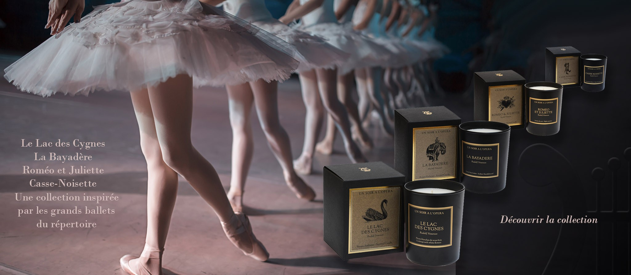 luxury candles inspired by ballet and opera